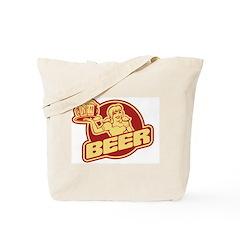 Vintage Beer Logo Tote Bag
