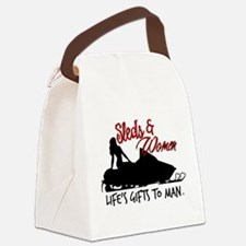 Sleds & Women Canvas Lunch Bag