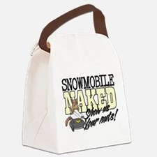 Snowmobile Naked Squirrel Canvas Lunch Bag
