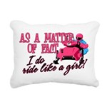Ride Like a Girl - Snowm Rectangular Canvas Pillow
