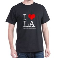 I Heart LA Black T-Shirt