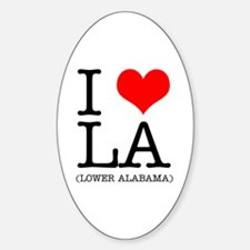 I Heart LA Oval Decal