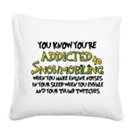 thumbtwitch.png Square Canvas Pillow