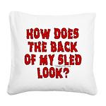 backblack.png Square Canvas Pillow