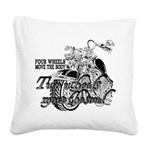 Two wheels move the soul Square Canvas Pillow