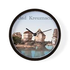 Bad Kreuznach Bridge Houses Wall Clock