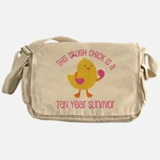 Breast Cancer 10 Year Survivor Chick Messenger Bag