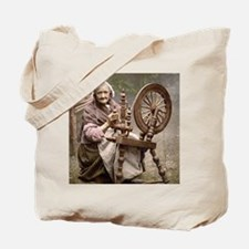 Irish spinner and spinning wheel Tote Bag