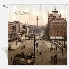 Vintage Dublin O'Connell Street Shower Curtain