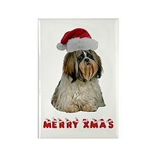 Shih Tzu Christmas Rectangle Magnet