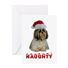 Naughty Shih Tzu Greeting Card