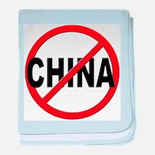 Anti / No China baby blanket