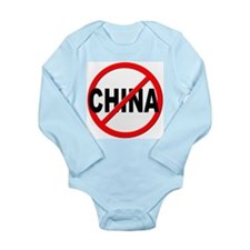 Anti / No China Long Sleeve Infant Bodysuit