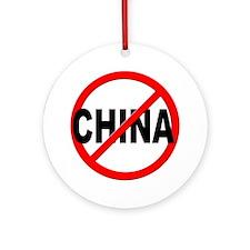 Anti / No China Ornament (Round)