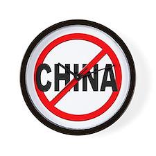 Anti / No China Wall Clock