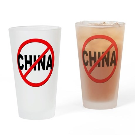 Anti / No China Drinking Glass