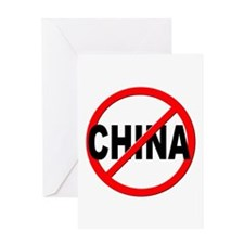 Anti / No China Greeting Card