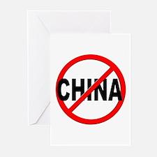 Anti / No China Greeting Cards (Pk of 20)