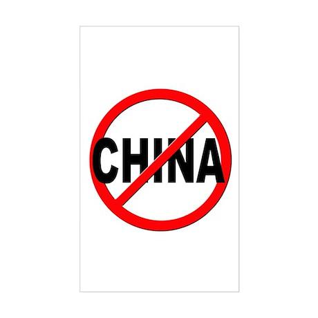 Anti / No China Sticker (Rectangle)