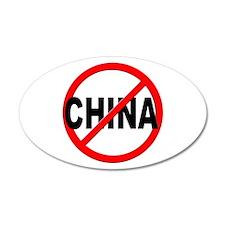 Anti / No China Wall Decal