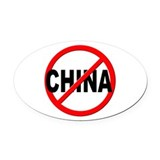 Anti china Oval Car Magnets