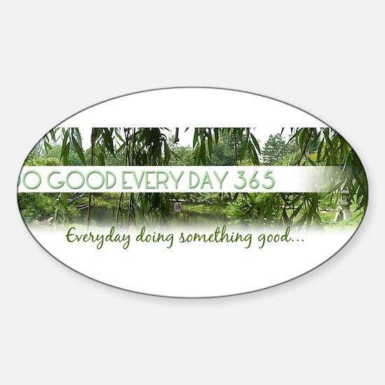 Dogoodeveryday365.com Sticker (Oval)