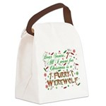 CHRISTMASwolf.png Canvas Lunch Bag