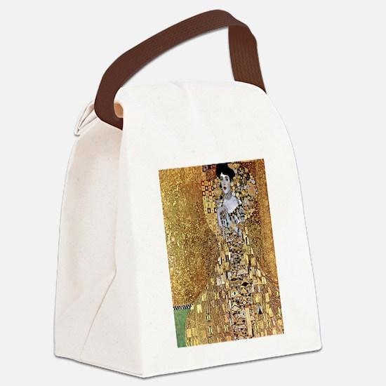 Adele Gustav Klimt Canvas Lunch Bag