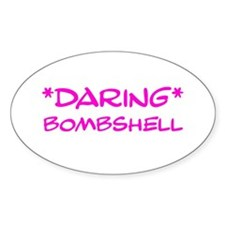 Daring Bombshell Oval Decal