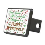 CHRISTMASwolf.png Rectangular Hitch Cover