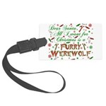 CHRISTMASwolf.png Large Luggage Tag