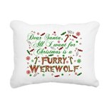 CHRISTMASwolf.png Rectangular Canvas Pillow