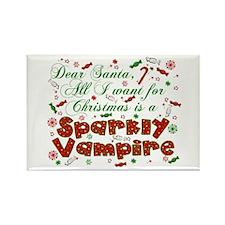 Dear Santa Vampire Rectangle Magnet