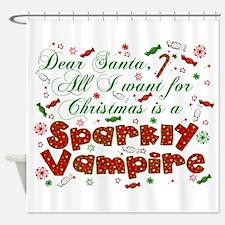 Dear Santa Vampire Shower Curtain