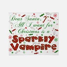 Dear Santa Vampire Throw Blanket
