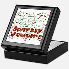 Dear Santa Vampire Keepsake Box
