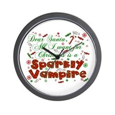 Dear Santa Vampire Wall Clock