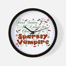 Dear Santa Vampire Wall Clock