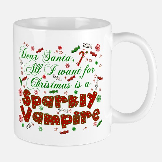 Dear Santa Vampire Mug