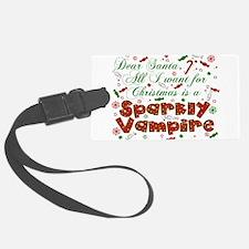 Dear Santa Vampire Luggage Tag