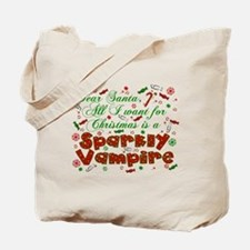 Dear Santa Vampire Tote Bag