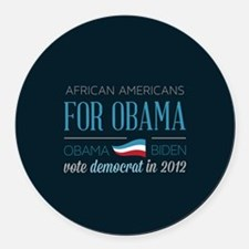 African Americans For Obama Round Car Magnet