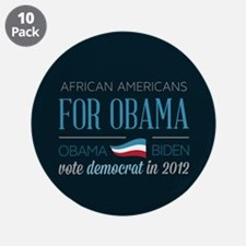 """African Americans For Obama 3.5"""" Button (10 pack)"""