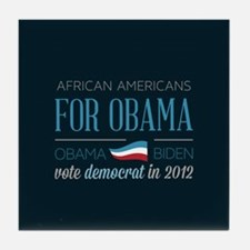 African Americans For Obama Tile Coaster