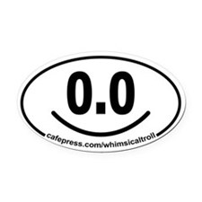 Running 13.1 Spoof 0.0 Smiley Oval Car Magnet