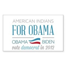 American Indians For Obama Stickers