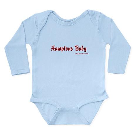 Hamptons Baby long sleeve onesis Body Suit