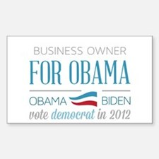 Business Owner For Obama Stickers