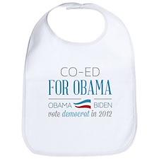 Co-Ed For Obama Bib