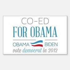 Co-Ed For Obama Sticker (Rectangle)